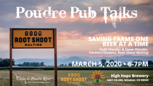 Poudre Pub Talk: Saving Farms One Beer at a Time @ High Hops Brewing | Windsor | Colorado | United States